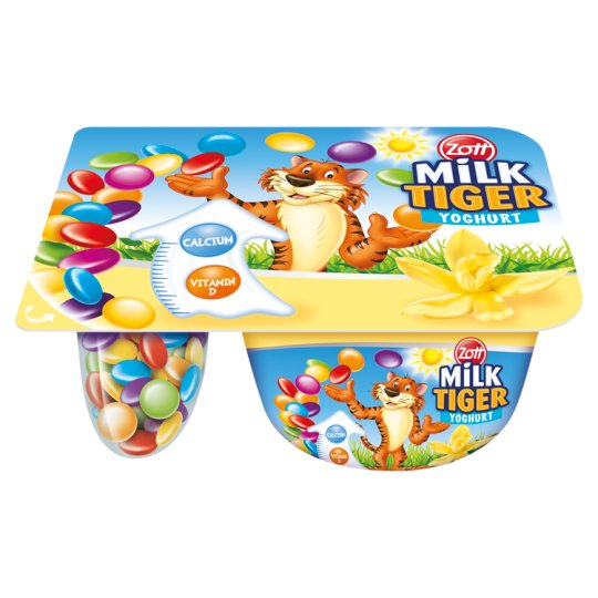 Zott Milk Tiger Vanilla Flavour with Cocoa Dragees Yoghurt 76 g