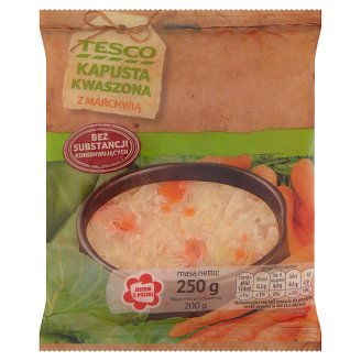Tesco Sauerkraut with Carrots 250 g