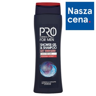Tesco Pro Formula For Men Get Energized Żel pod prysznic i szampon 400 ml