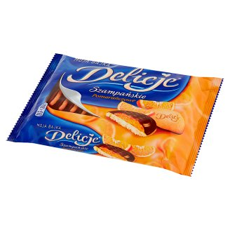 Delicje Szampańskie Chocolate Topped Cakes with Orange Flavoured Jelly 294 g