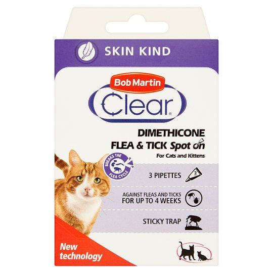 Bob Martin Clear Dimethicone Preparat dla kotów i kociąt powyżej 3 miesiąca życia 3 sztuki