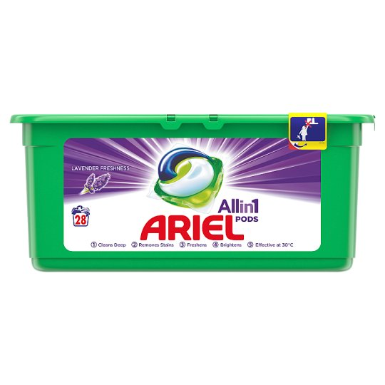 Ariel 3in1 Pods Lavender Washing Capsules 28 Washes