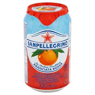 Sanpellegrino Aranciata Rossa Napój gazowany o smaku czerwonej pomarańczy 330 ml
