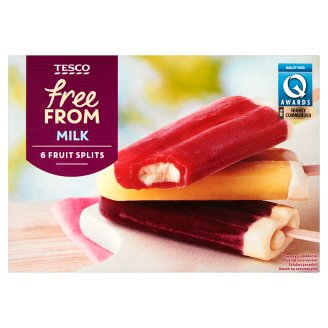 Tesco Free From Waniliowy deser lodowy w polewie z lodów wodnych mix smaków 330 g (6 sztuk)
