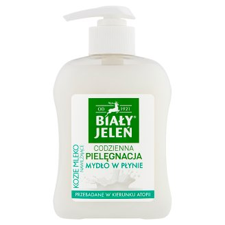 Biały Jeleń Hipoalergiczne mydło w płynie nawilżające kozie mleko 300 ml