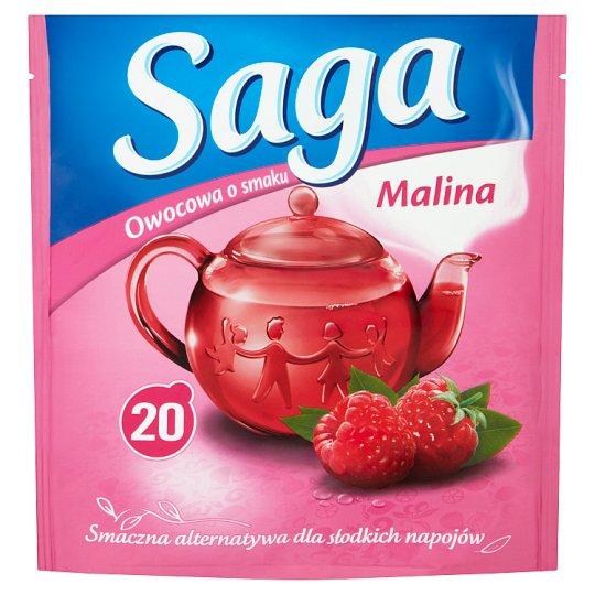 Saga Raspberry Flavour Fruit Tea 34 g (20 Tea Bags)