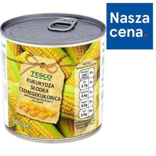 Tesco Kukurydza słodka 340 g
