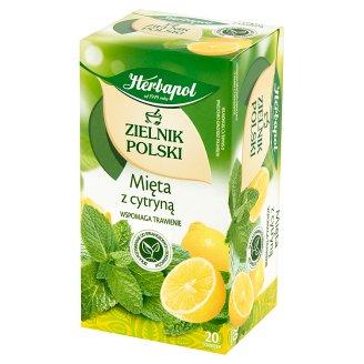 Herbapol Zielnik Polski Mięta z cytryną Herbatka ziołowo-owocowa 30 g (20 saszetek)