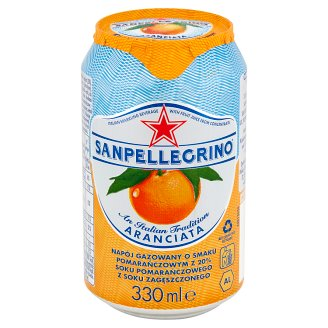Sanpellegrino Aranciata Sparkling Orange Beverage 330 ml
