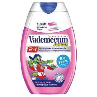 Vademecum 2in1 Junior Truskawkowa pasta do zębów i płyn do płukania ust 75 ml