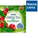 Tesco Herbata zielona o smaku malinowym 40 g (20 torebek)