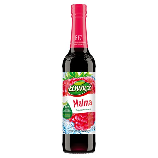 Łowicz Syrup with Raspberry Flavour 400 ml
