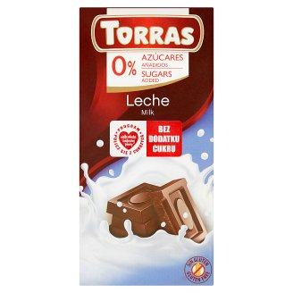 Torras Czekolada mleczna bez dodatku cukru 75 g