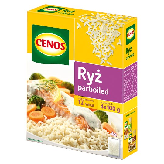 Cenos Parboiled Rice 400 g (4 Bags)