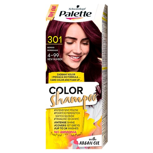 Palette Color Shampoo Coloring Shampoo Bordeaux 301