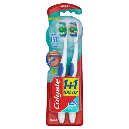 Colgate 360° Whole Mouth Clean Medium Toothbrush 2 Pieces