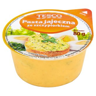Tesco Egg Paste with Chives 80 g