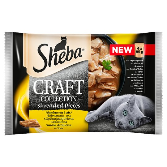 Sheba Craft Collection Poultry Flavors in Gravy Complete Cat Food 340 g (4 x 85 g)