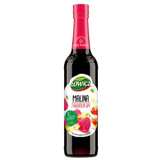 Łowicz Syrup with Raspberry and Linden Flower Flavour 400 ml