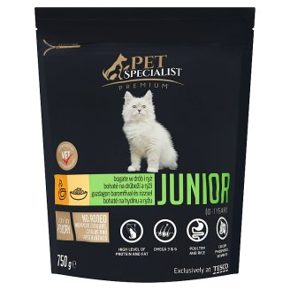 Tesco Pet Specialist Premium Granules with Poultry and Rice Food for Junior Cats 750 g