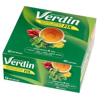 Verdin Fix Kompleksowa pomoc dla układu trawiennego Suplement diety Herbatka 72 g (40 saszetek)
