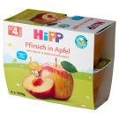 HiPP BIO Owocowa Chwila Jabłka-Brzoskwinie po 4. miesiącu 400 g (4 sztuki)