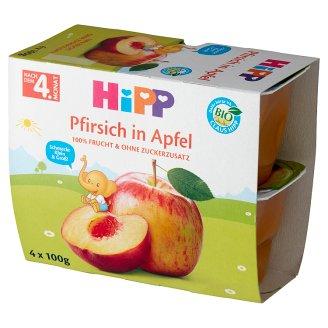 HiPP BIO Owocowa Chwila Jabłka-Brzoskwinie po 4. miesiącu 400 g (4 x 100 g)