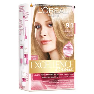 L'Oréal Paris Excellence Creme 9.1 Very Light Ash Blonde Colouring Cream