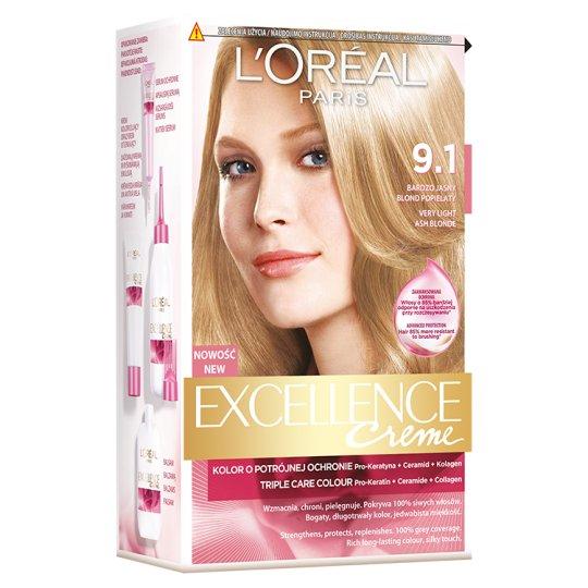 L'Oréal Paris Excellence Creme Farba do włosów 9.1 Bardzo jasny blond popielaty