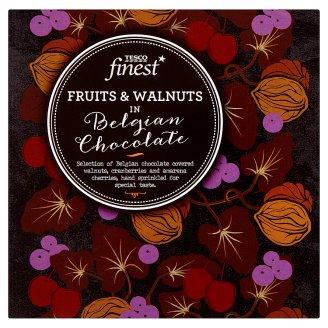 Tesco Finest Mieszanka owoców i orzechów w belgijskiej czekoladzie 80 g