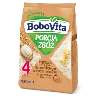 BoboVita Porcja zbóż Rice Porridge Vanilla Flavour After 4 Months Onwards 170 g