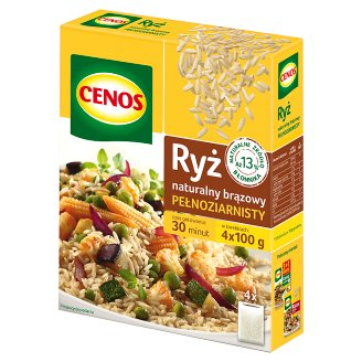 Cenos Whole Gain Natural Brown Rice 400 g (4 Bags)
