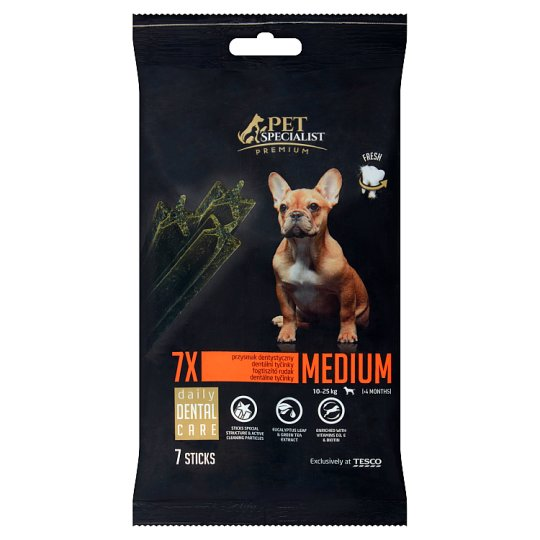 Tesco Pet Specialist Premium Supplementary Food for Dogs Daily Dental Care 180 g (7 Pieces)
