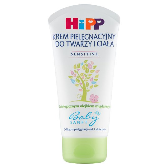 HiPP Babysanft Sensitive Body and Face Caring Cream from 1 Day of Life 75 ml