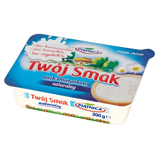 Piątnica Twój Smak Natural Cream Cheese 200 g