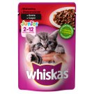 Whiskas Junior Complete Cat Food with Beef in Sauce 2-12 Months 100 g