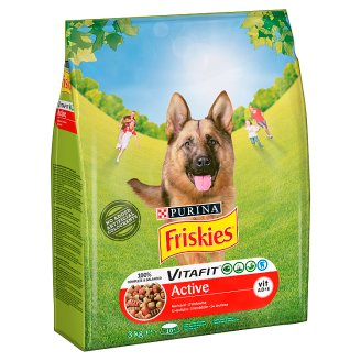 Friskies Vitafit Active with Beef Complete Dog Food 3 kg
