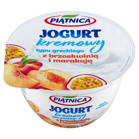 Piątnica Greek Style Yoghurt with Peach and Passion Fruit 150 g
