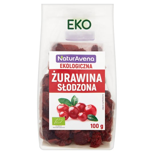 NaturAvena Sweetened Organic Cranberry 100 g