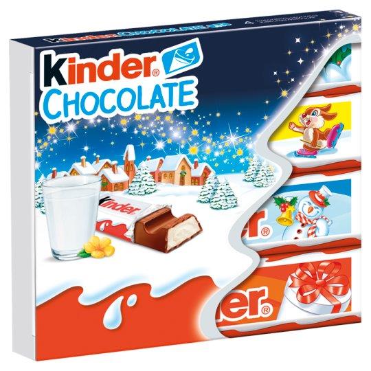 Kinder Chocolate Milk Chocolate Bars with Milk Filing 50 g (4 x 12.5 g)