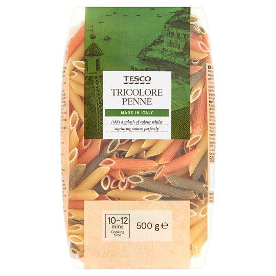Tesco Tricolore Penne Makaron bezjajeczny 500 g