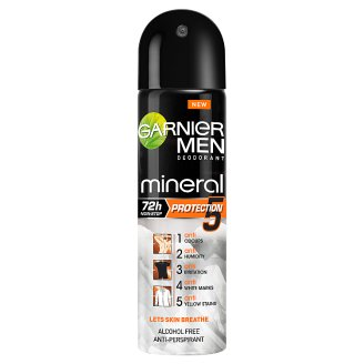 Garnier Men Mineral Protection 5 Antyperspirant w sprayu bez alkoholu 150 ml