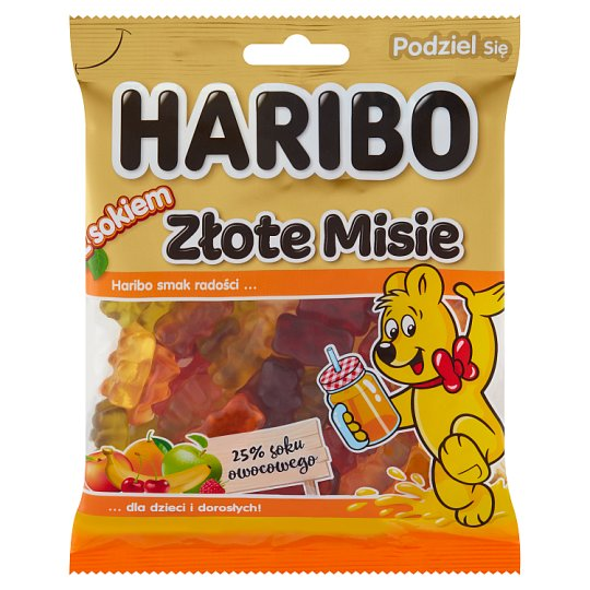 Haribo Golden Teddy Bears Fruit with Juice Jellies 175 g