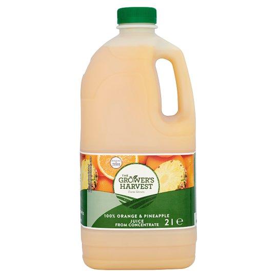 Sun Grown Sok pomarańczowy z sokiem ananasowym z zagęszczonych soków 2 l