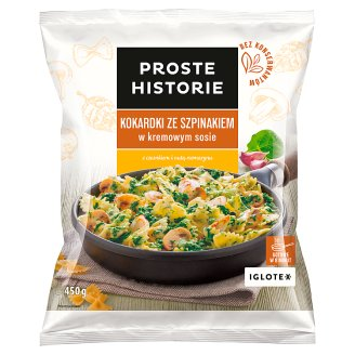 Proste Historie Farfalle with Spinach in Creamy Sauce 450 g