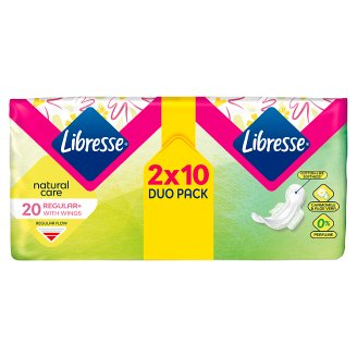 Libresse Natural Ultra Normal Clip Duo Sanitary Towel 20 Pieces