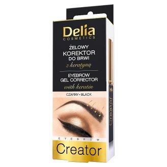Delia Cosmetics Eyebrow Creator Żelowy korektor do brwi z keratyną czarny 7 ml