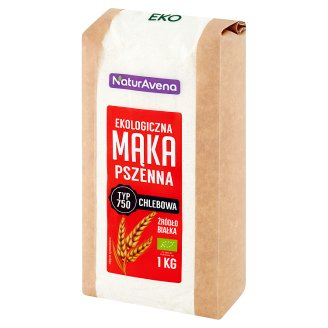 NaturAvena Ekologiczna mąka pszenna chlebowa typ 750 1 kg
