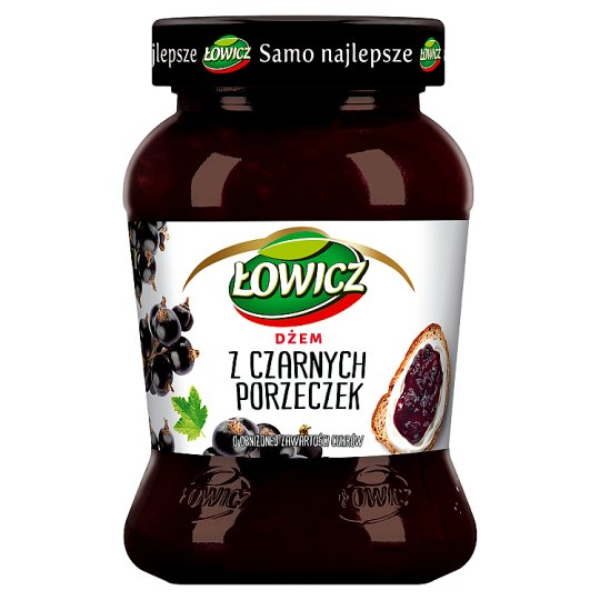 Łowicz Black Currant Low Sugar Jam 450 g