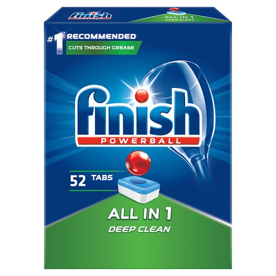 Finish All in 1 Dishwasher Detergent in Tabs 847.6 g (52 Pieces)